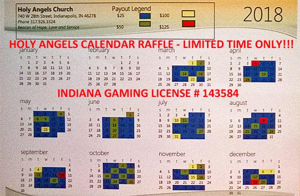 Calendar Raffle – Click for Information